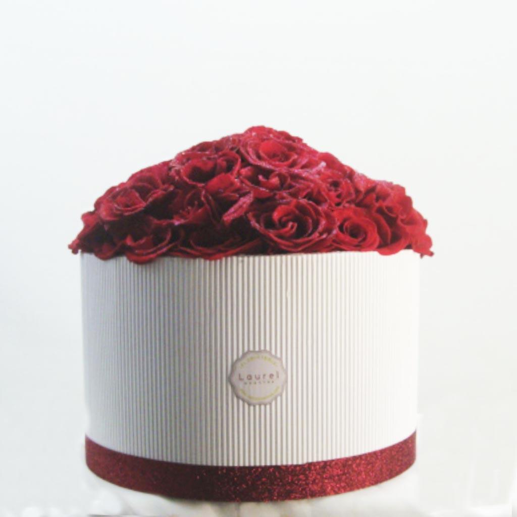 Caja White Rosa Roja