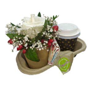 Cafe y flores