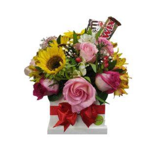 Flores y chocolates