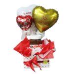 regalo de nutella con globos