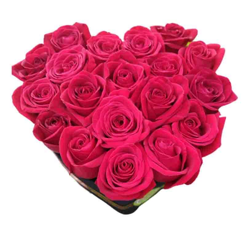 Caja de rosas en valencia