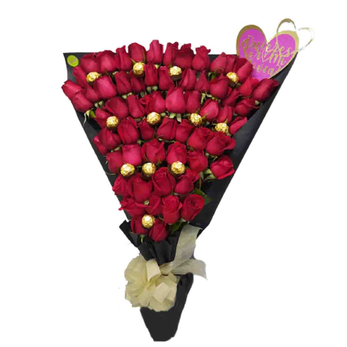 Ramillete de 5 docenas de rosas